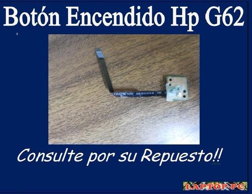 botón encendido hp g62