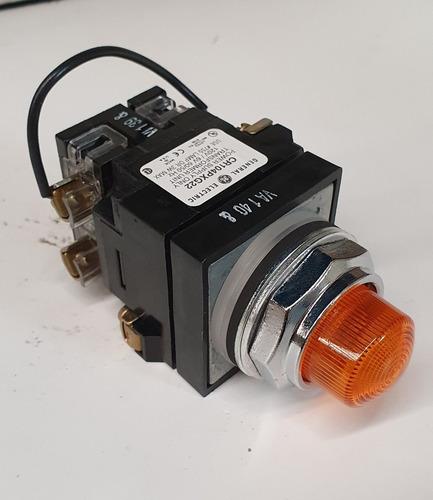 botón ge iluminado pulsador color ambar cr104plt32m