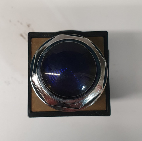 botón ge iluminado pulsador color azul cr104plt32l