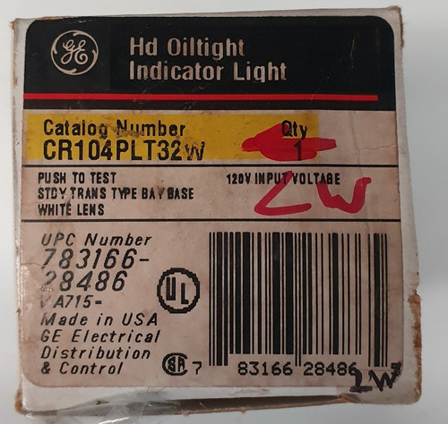 botón ge iluminado pulsador color blanco cr104plt32w