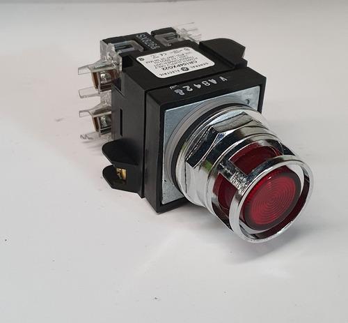 botón ge iluminado pulsador color rojo cr104pbt11r3s2