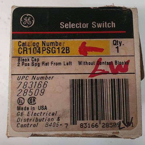 botón ge interruptor selector no iluminado cr104psg12b