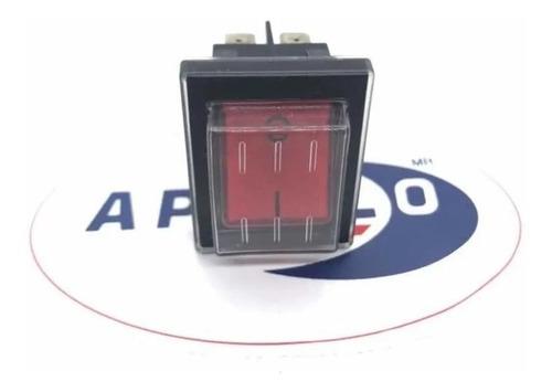 boton interruptor encendido apagado aspiradora rojo con led