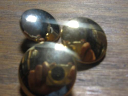 boton metalico x 6 unidades 20mm color oro