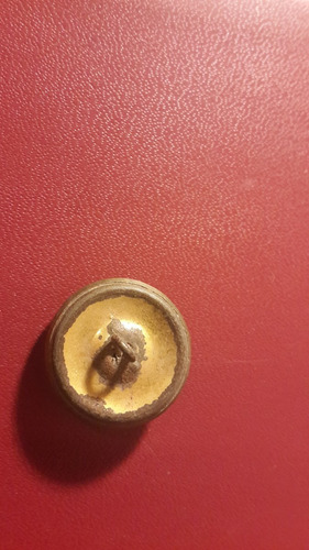 botón militar antiguo, foto, mt083