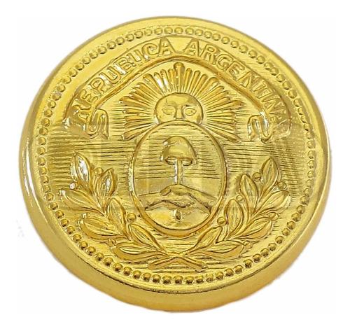 botón militar escudo patrio 22mm dorado rerda