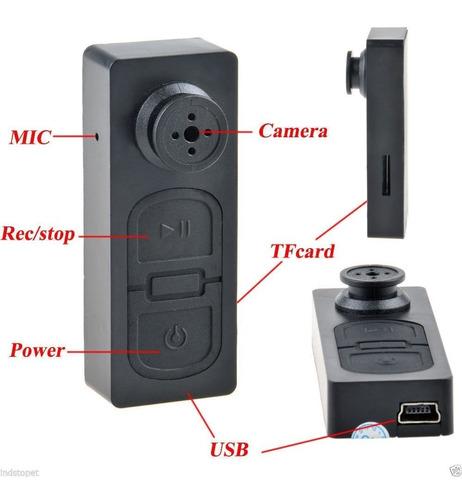 boton mini camara espia oculta seguridad dvr hd microfono