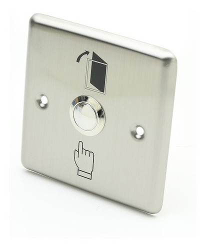boton pulsador control acceso metalico puerta emergencia