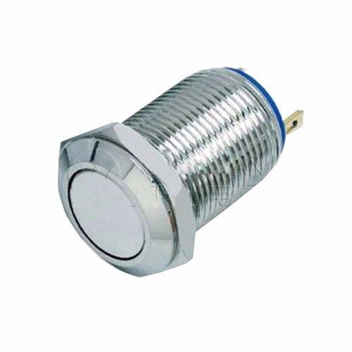 boton pulsador momentaneo 12mm acero inox 36v impermeable