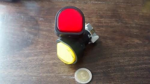 boton pulsador n15 semicircular arcade luminoso, facearcade