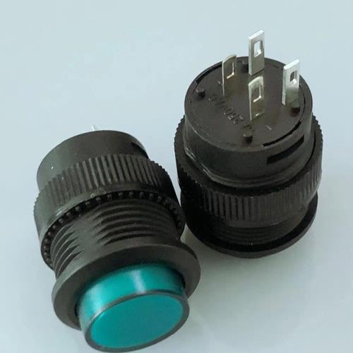 boton pulsador plastico momentaneo na 16mm 3a verde arduino