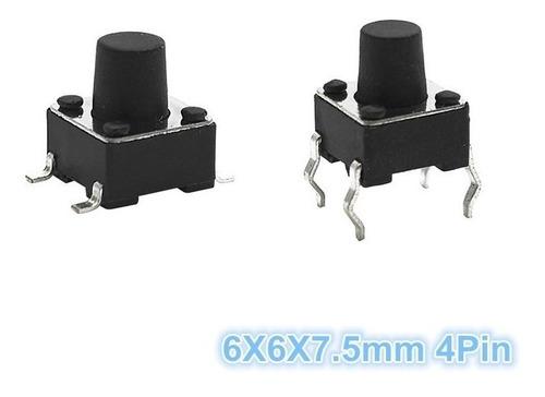 boton pulsador tact switch 6x6x7.5mm push arduino