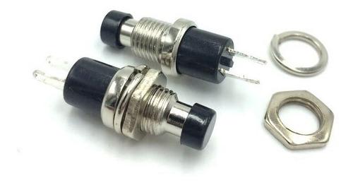 boton pulsador timbre portero na s/retencion 1a 250v negro