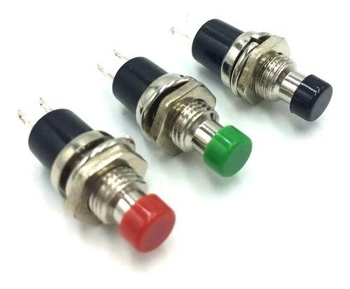 boton pulsador timbre portero na s/retencion 1a 250v rojo