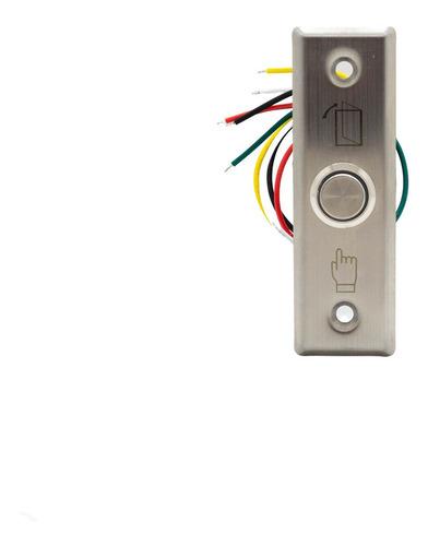 boton rex de salida con led metálico rectangular acceso b22a