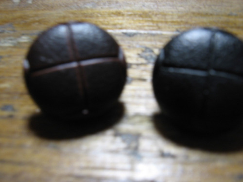 boton simil cuero 15mm x 6 unidades