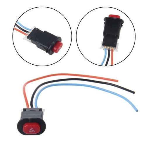 boton switch con arnes intermitentes motocicleta auto