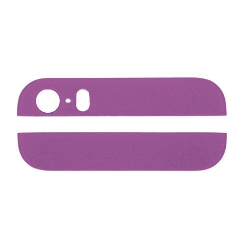 boton top bottom glass cover para iphone 5s purple