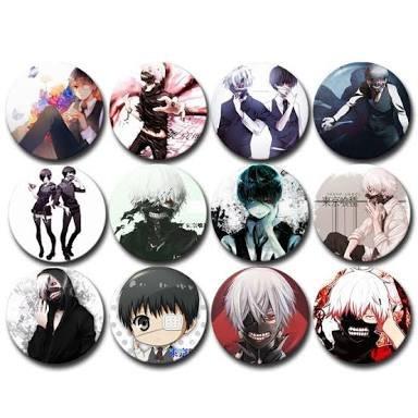 botones anime mayoreo set de 12 botones