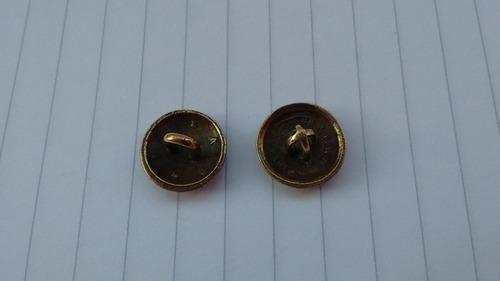 botones antiguos correo y telegrafo - bronce