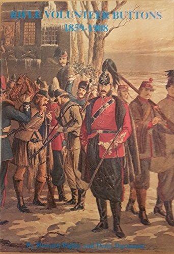 botones del voluntario del rifle 1859-1908
