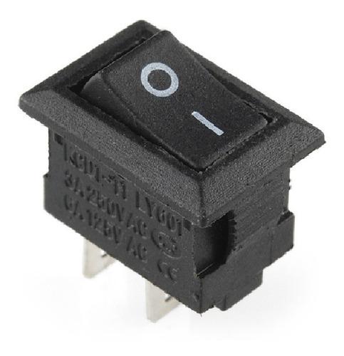 botones interruptores mini rocker switch on-off 2pin pequeño