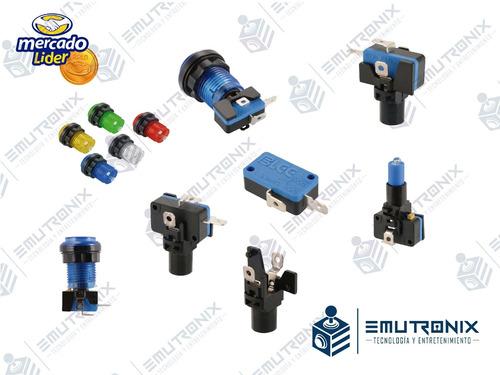 botones led para máquinas arcade, multijuego, rockolas