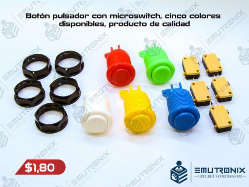 botones para máquinas de video juegos, multijuego, arcade