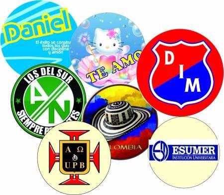 botones publicitarios de 3,2 combo x 100 und. personalizados