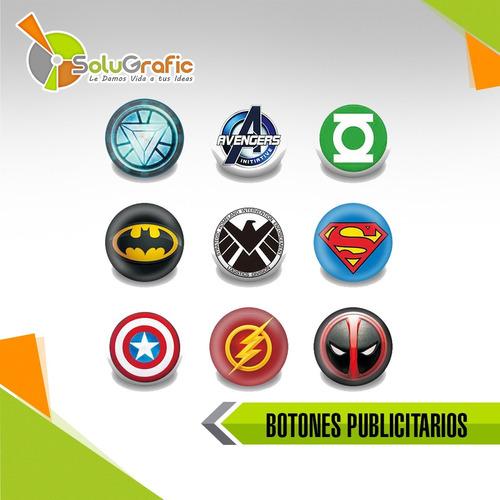 botones publicitarios x12