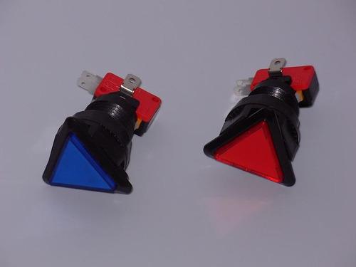 botones pulsadores triangulares