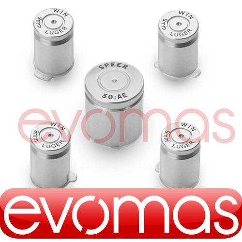 botones tipo bala plata abxy y guia para control de xbox 360