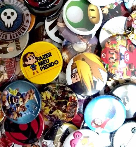 botons button bottons broche personalizado 100 un tam 3,5cm