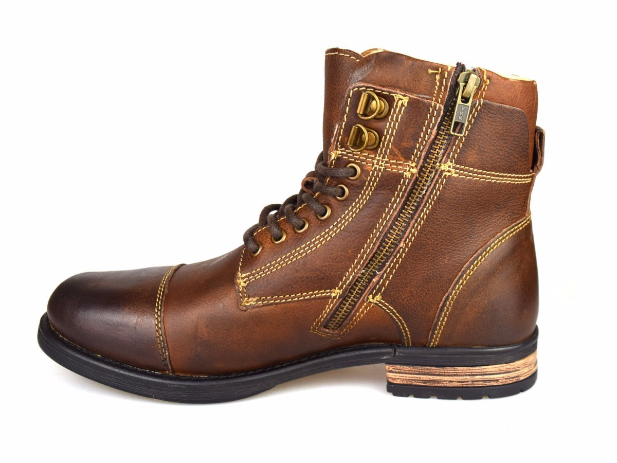 179e8d5925ba7 bototos botas botines hombre café 100% cuero invierno 42. Cargando zoom.