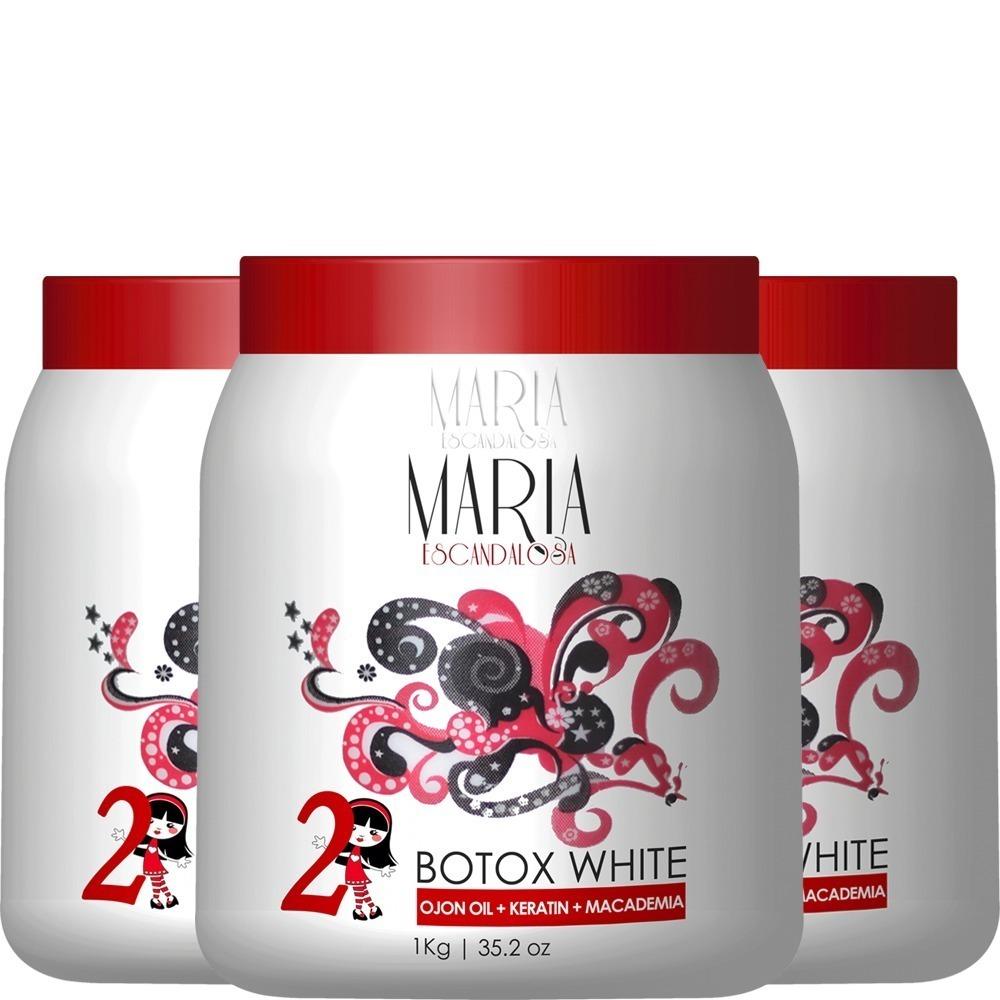 02af08510 botox capilar maria escandalosa white 3kg - 3 unidades. Carregando zoom.