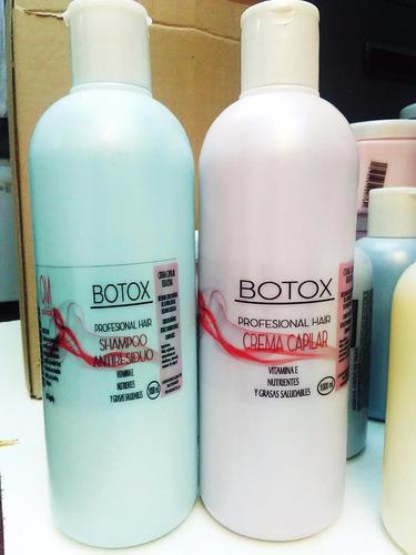 botox capilar om 1litro + shampoo antiresiduo 1litro