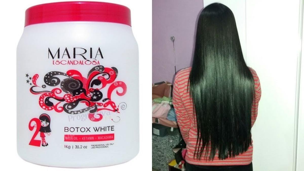 30ae85d64 Botox Profissional Capilar Maria Escandalosa 1kg White - R$ 39,99 em  Mercado Livre