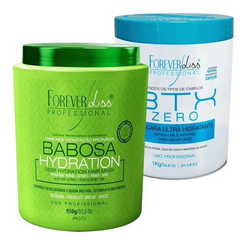 botox zero 1k e mascara de babosa 950g maciez forever liss