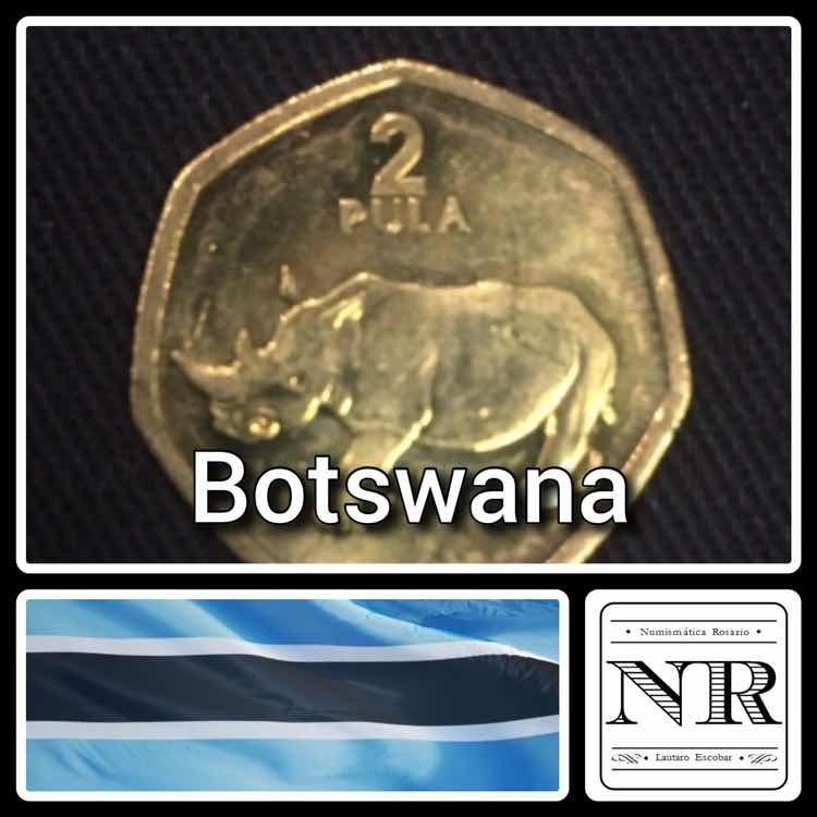 Botswana - 2 Pula - Año 2004 - Km # 25 A - Rinoceronte
