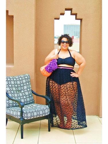 bottom pareo falda traje de baño tallas grandes plus size
