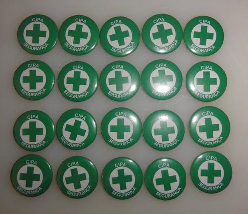 botton/botons cipa segurança - 22 unidades - 2,5cm - fgbr