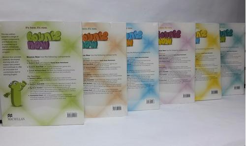 bounce now libro 1er a 6to grado macmillan incluye cd oferta