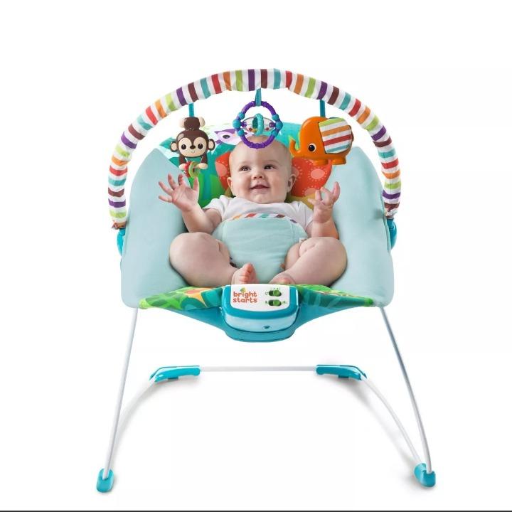 119b5b2bd Bouncer Mecedora Para Bebé Bright Starts Safari Surprise ...