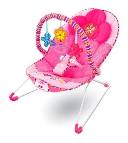 bouncer mecedora vibradora confort rosa fisher price- nuevo