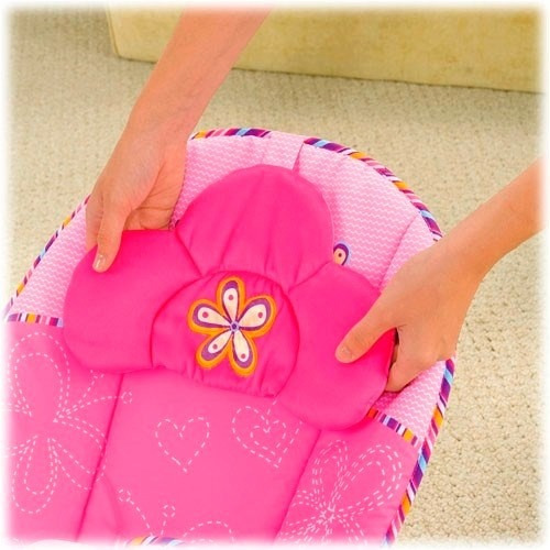 bouncer mecedora vibradora confort rosa fisher price- nuevo