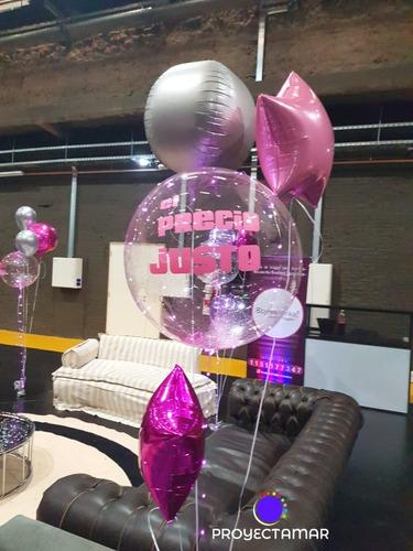 bouquet 4 globos personalizados sin infla,