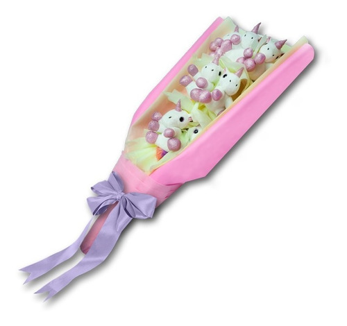 bouquet ramo de peluches unicornio
