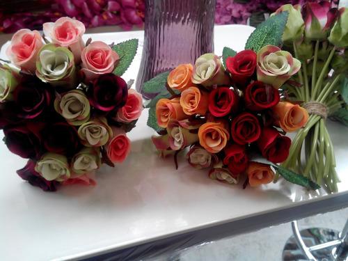 bouquet ramo de rosas artificiales