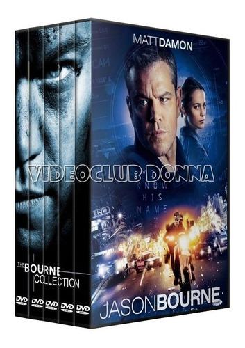 bourne saga completa colección dvd 5 peliculas latino pack