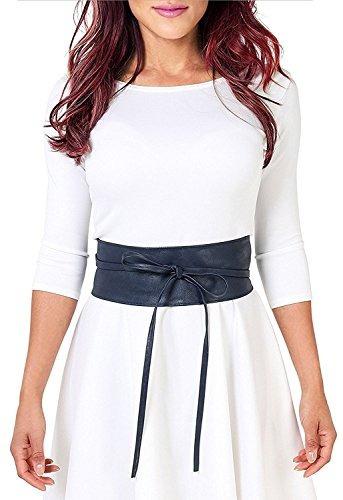 bowknot para mujer de imitación de cuero self tie wrap alre